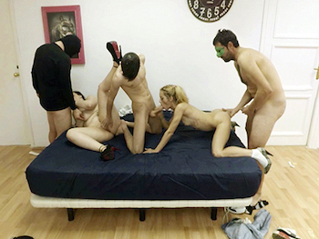 FAKings hangout: María Bosé, Shia Schoolgirl and a whole dick all-you-can-eat bouffet.